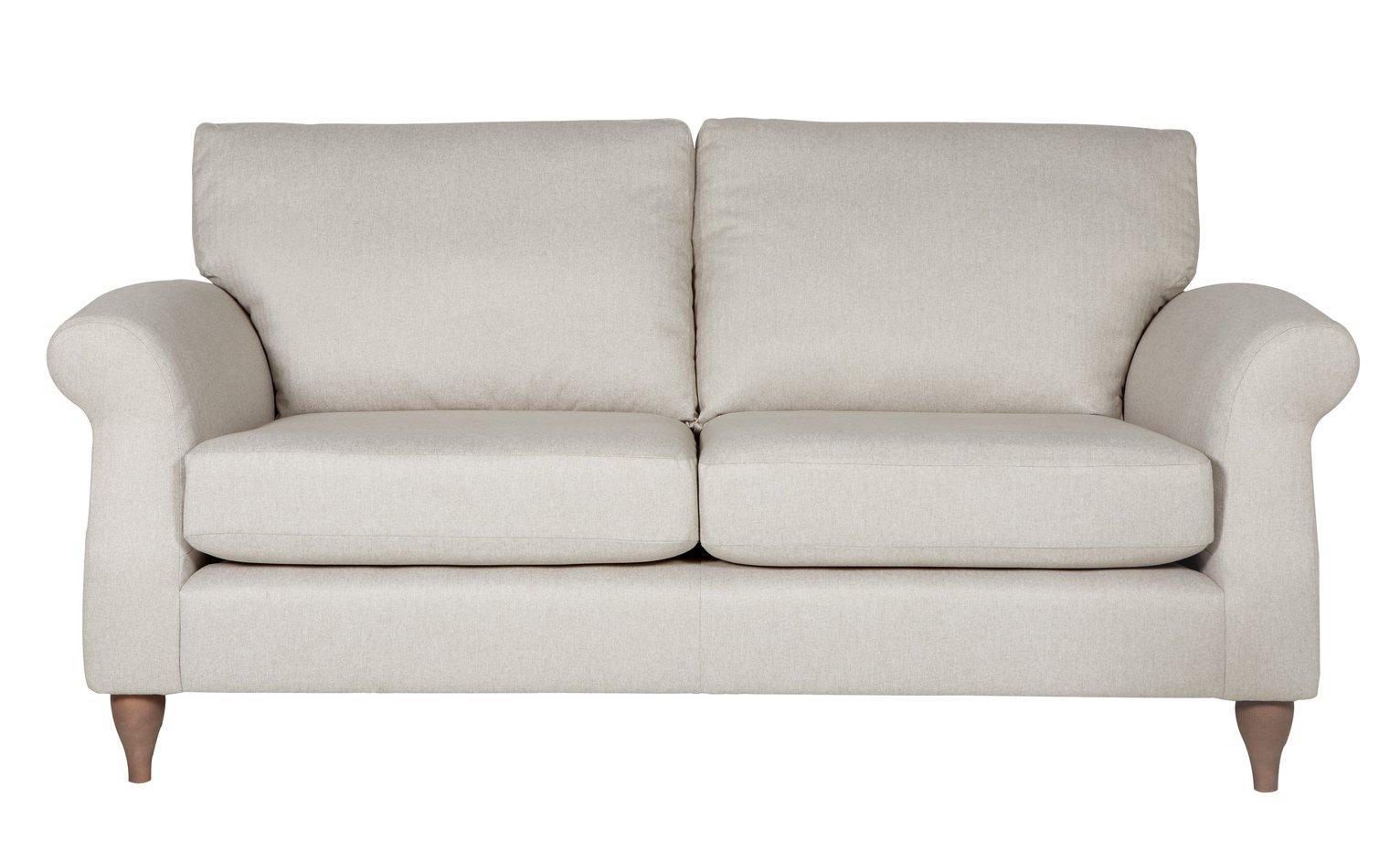 Argos Home Bude 3 Seater Fabric Sofa - Natural