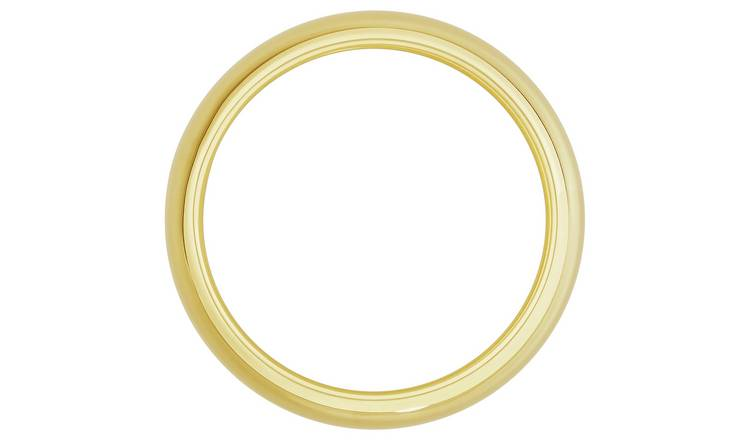 Revere 9ct Gold Rolled Edge Wedding Ring - 6mm - S