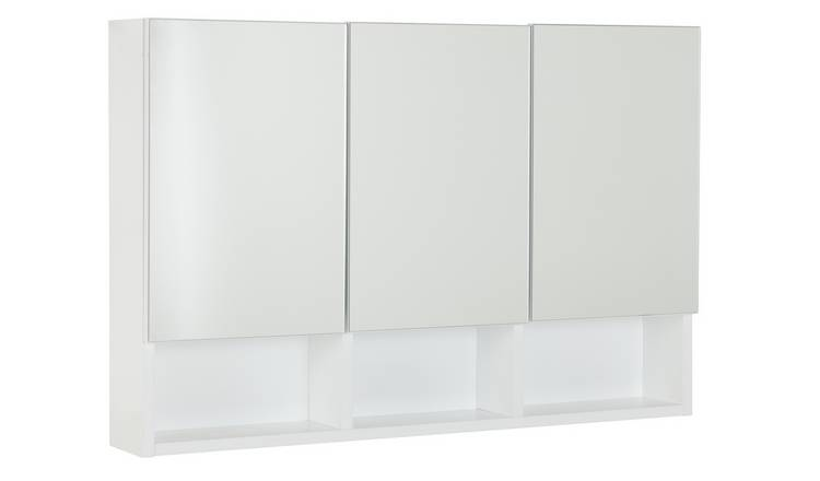 Argos Home 3 Door Mirrored Wall Cabinet
