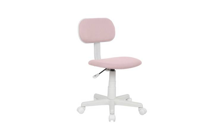 Argos Home Fabric Office Chair - Pink