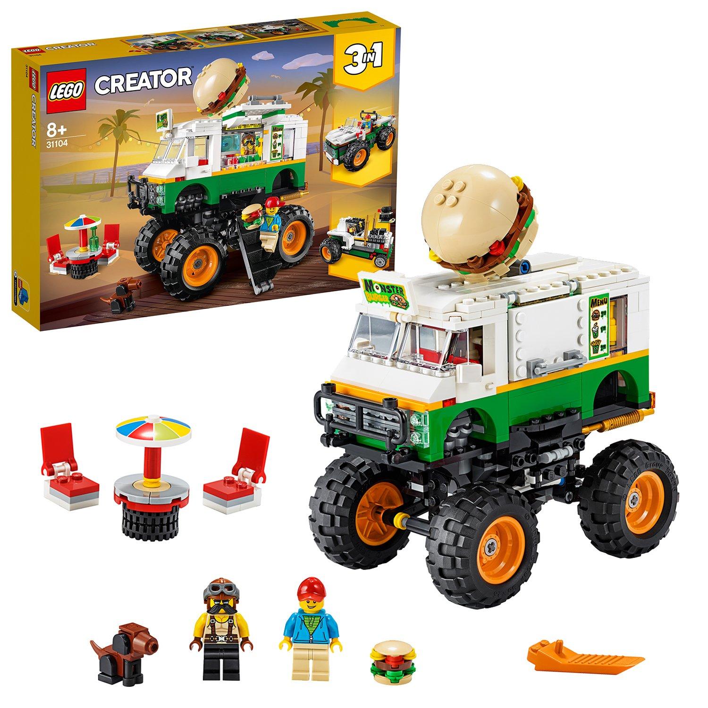 Buy Lego Creator 3 In 1 Monster Burger Truck Building Set 31104 Lego Argos