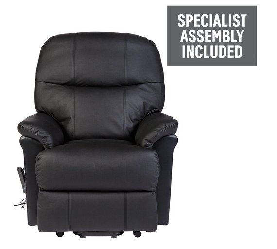 buy lars riser recliner leather chair w single motor black