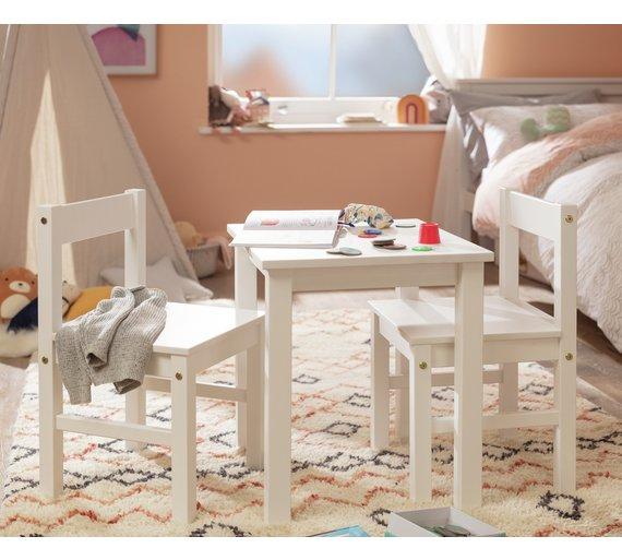 buy argos home kids scandinavia table and 2 chairs white kids