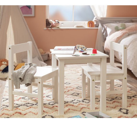 Argos Childrens Table And Chairs White: Buy HOME Kids Scandinavia Table And 2 Chairs