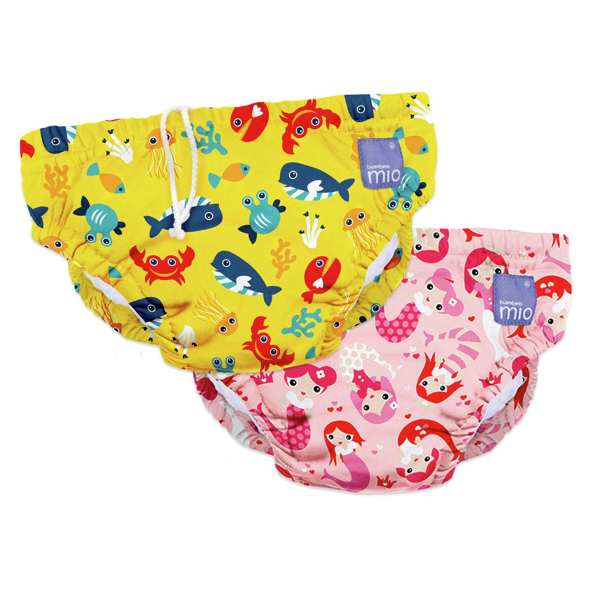 Bambino Mio Reusable Swim Nappy Pink/Yellow - 6-12 Months.