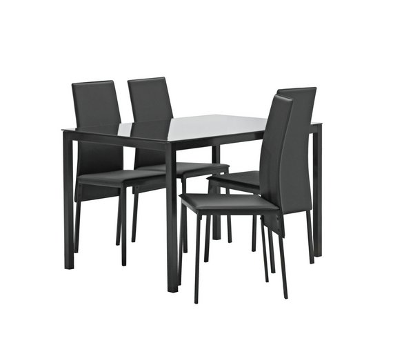 Buy Argos Home Lido Glass Dining Table & 4 Chairs