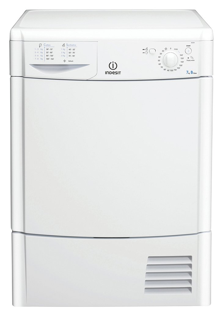 Indesit - IDC75 7KG Condenser - Tumble Dryer - White