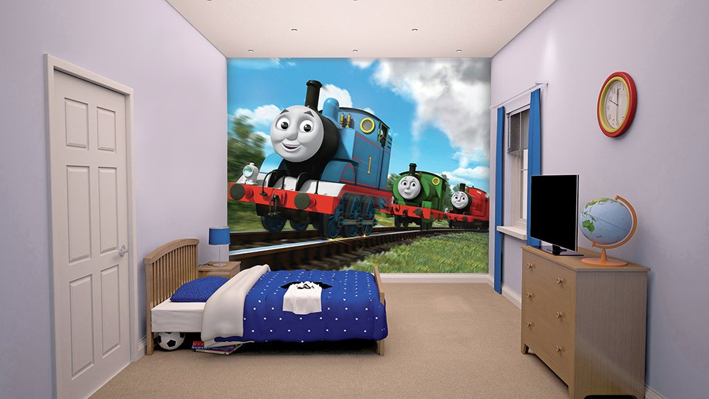 walltastic  new thomas the tank engine  wall mural