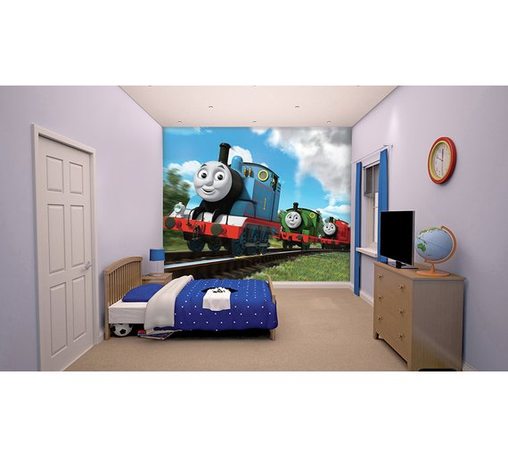 buy walltastic thomas friends wall mural at. Black Bedroom Furniture Sets. Home Design Ideas