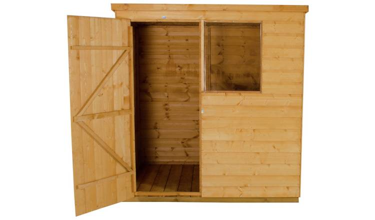 Forest Wooden 6 x 4ft Shiplap Pent Shed