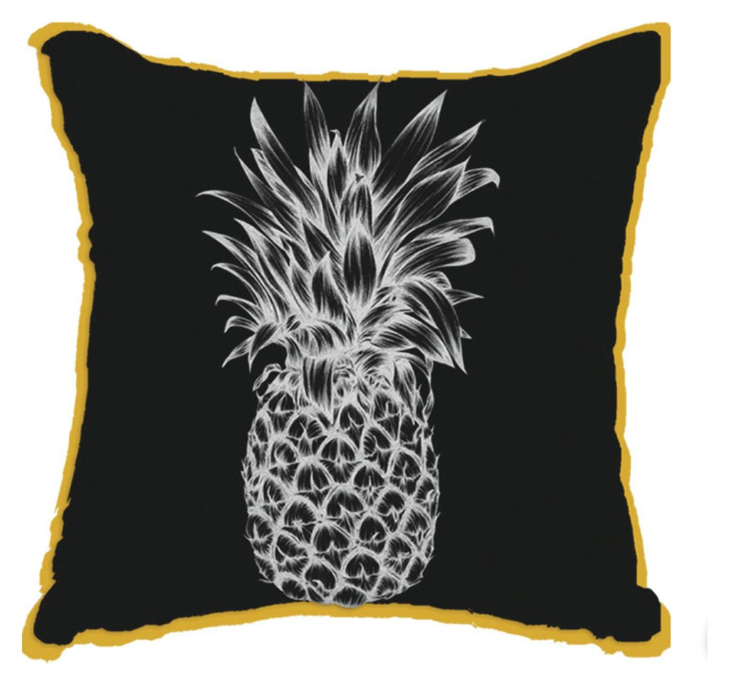Image of Arthouse Tropics Copacabana Cushion - Black