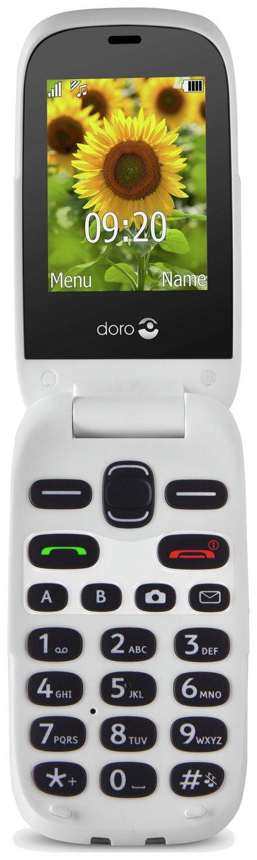 SIM Free Doro 6030 Flip Mobile Phone - Silver / Grey