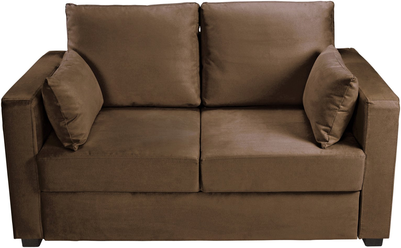 Image of Home - Apartment - 2 Seater Fabric - Sofa Bed - Chocolate