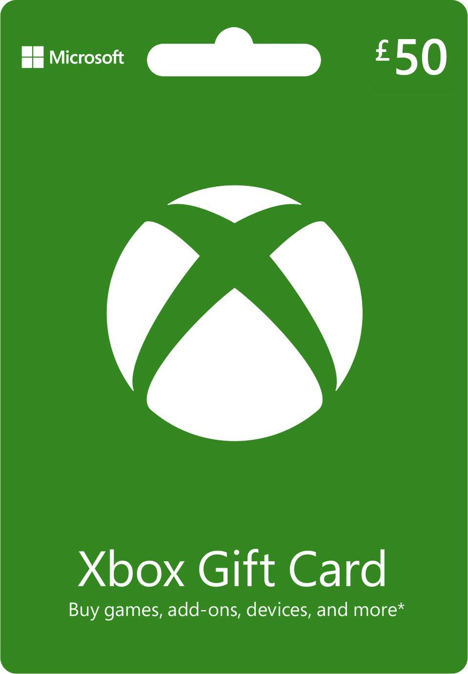 Xbox Xbox Live £50 Gift Card.
