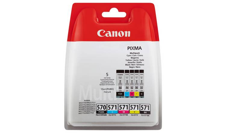 Canon PGI570 & CLI571 Ink Cartridges Black & Colour