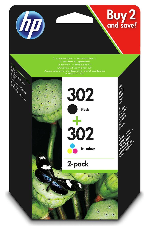 HP 302 Original Ink Cartridge Multipack - Black & Colour