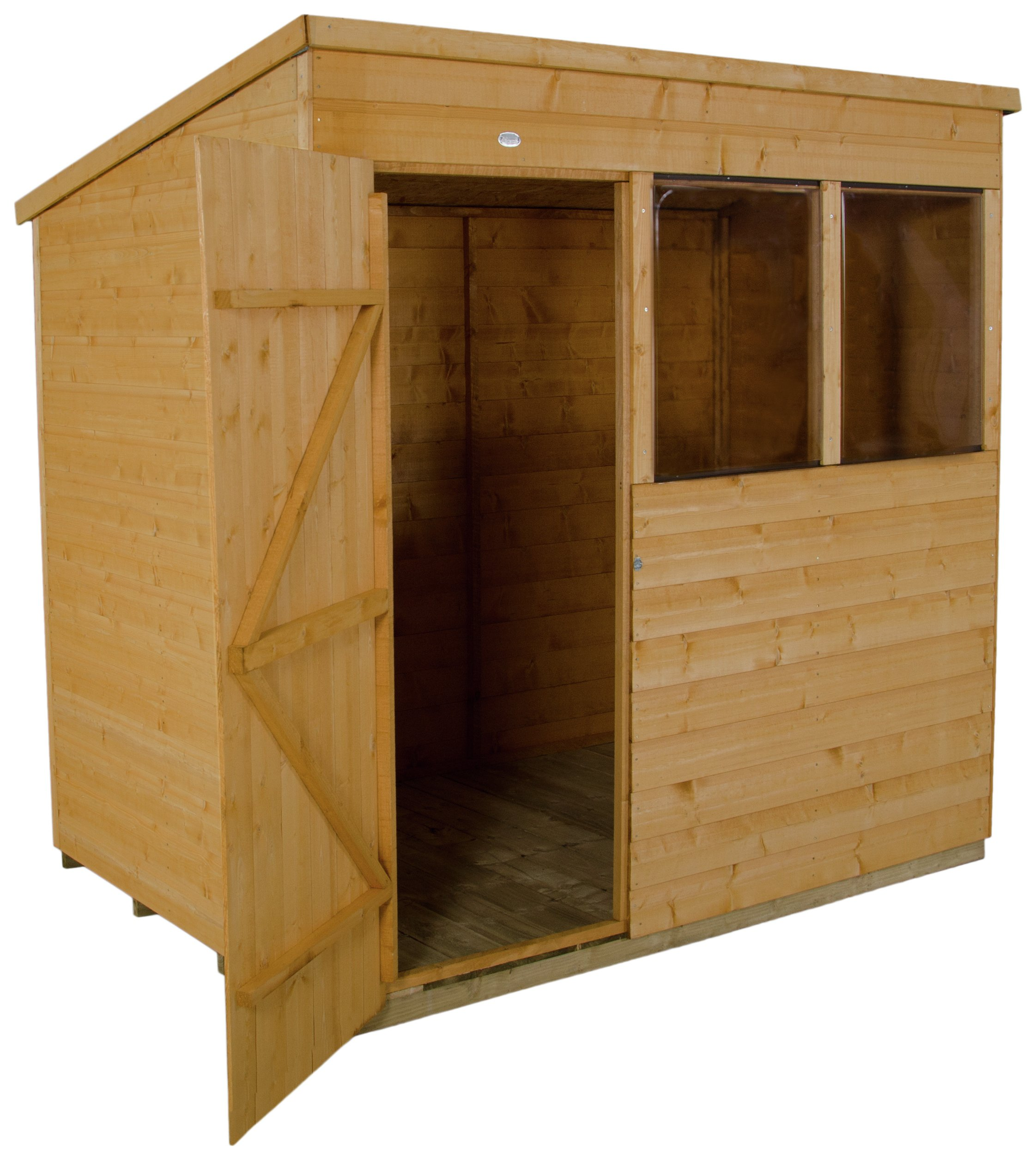 Forest Wooden 7 x 5ft Shiplap Pent Shed