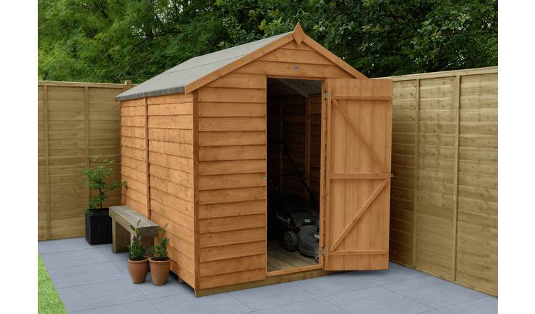 Forest Wooden 8 x 6ft Overlap Windowless Apex Shed