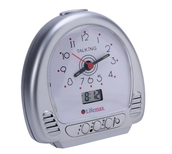 buy talking alarm clock at your online shop for clocks home furnishings home and. Black Bedroom Furniture Sets. Home Design Ideas
