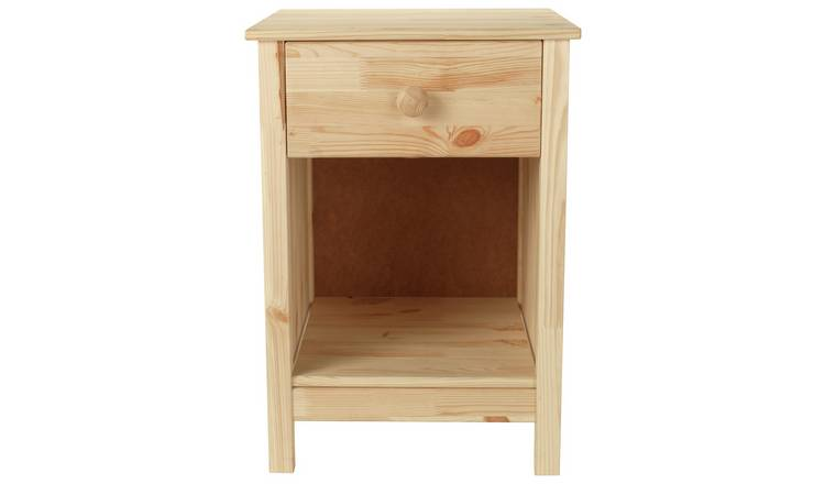 Argos Home Scandinavia 1 Drawer Bedside Table - Pine