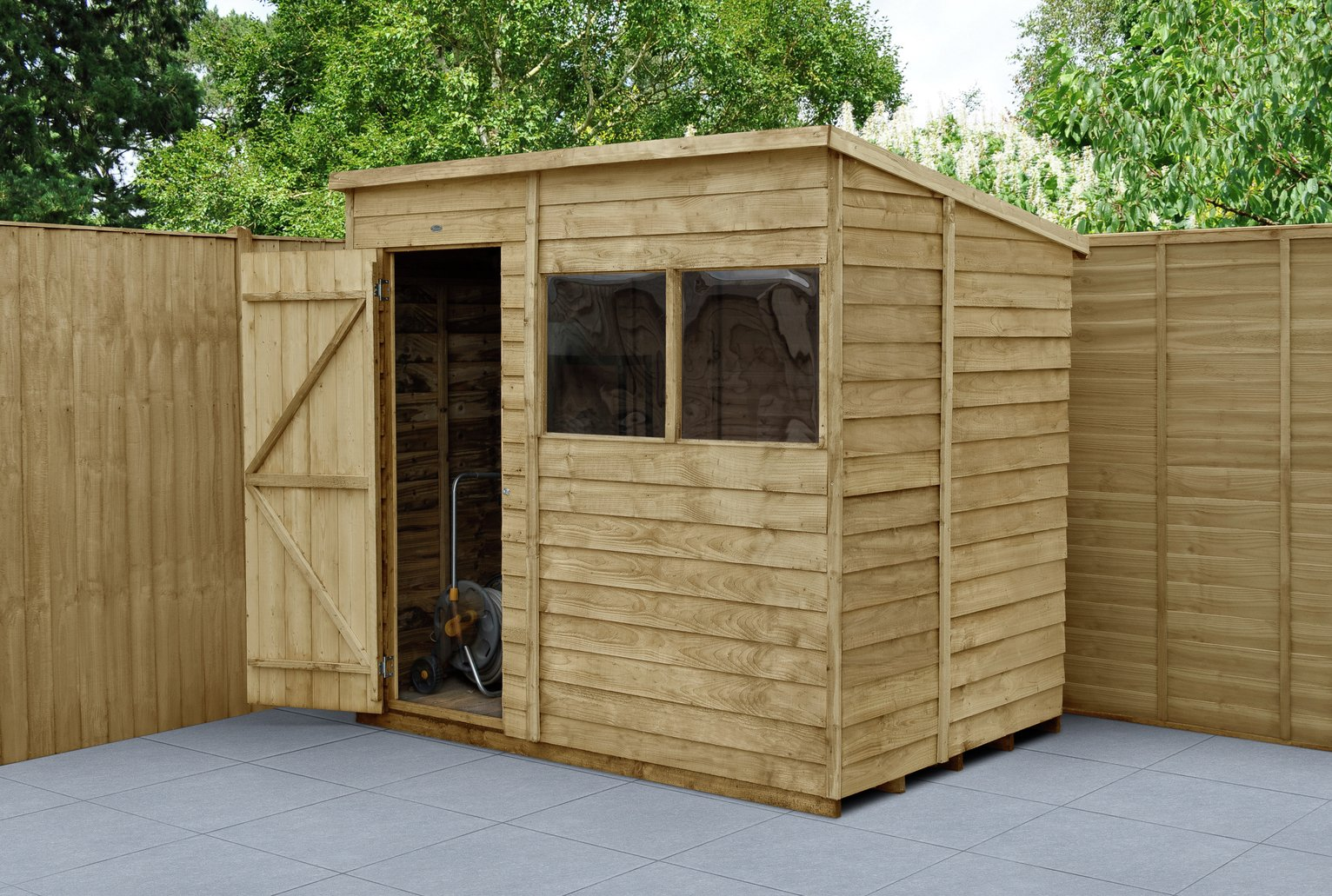 Forest Wooden 7 x 5ft Overlap Pent Shed