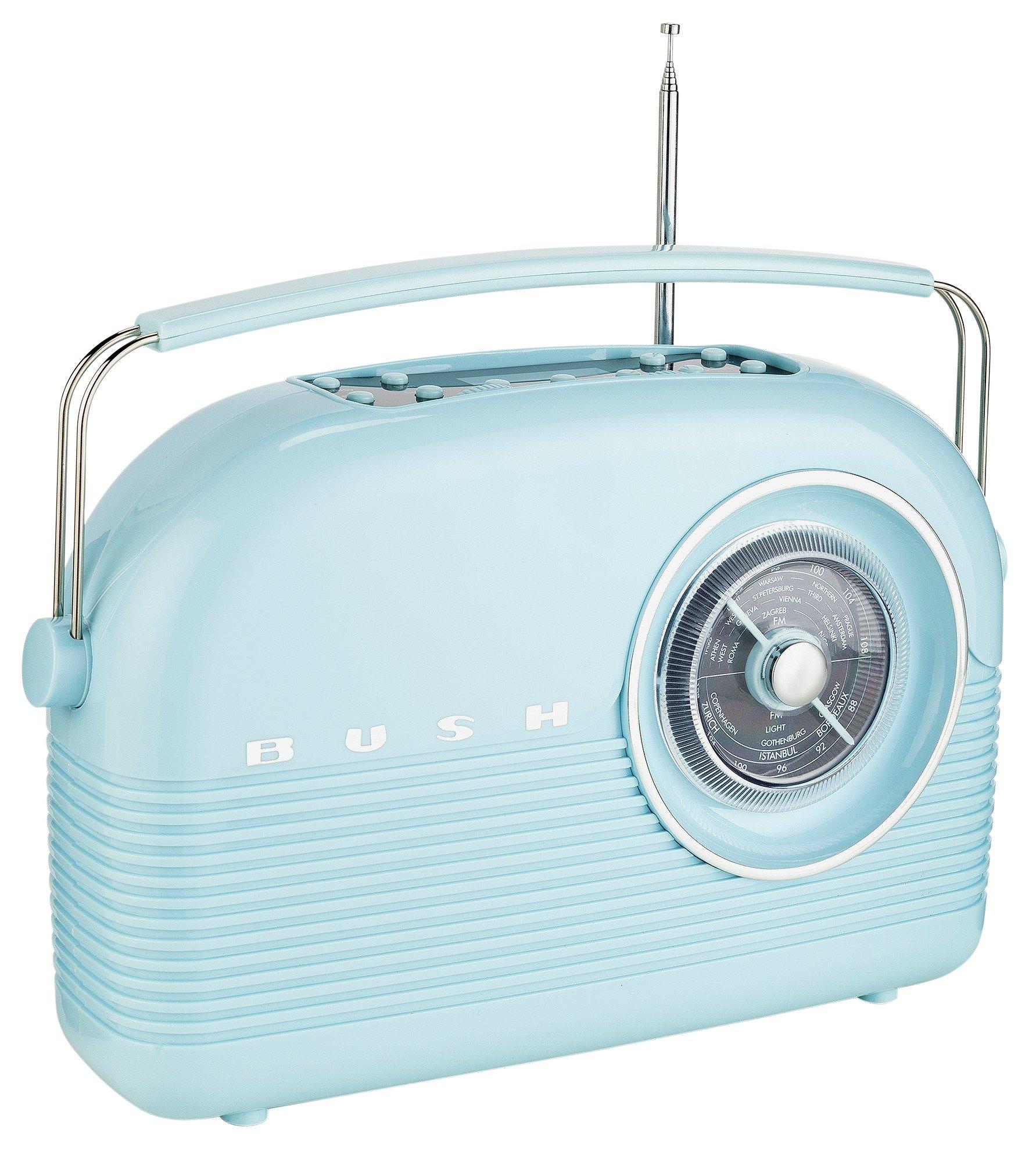 Image of Bush - Classic Retro DAB Radio - Cornflower Blue