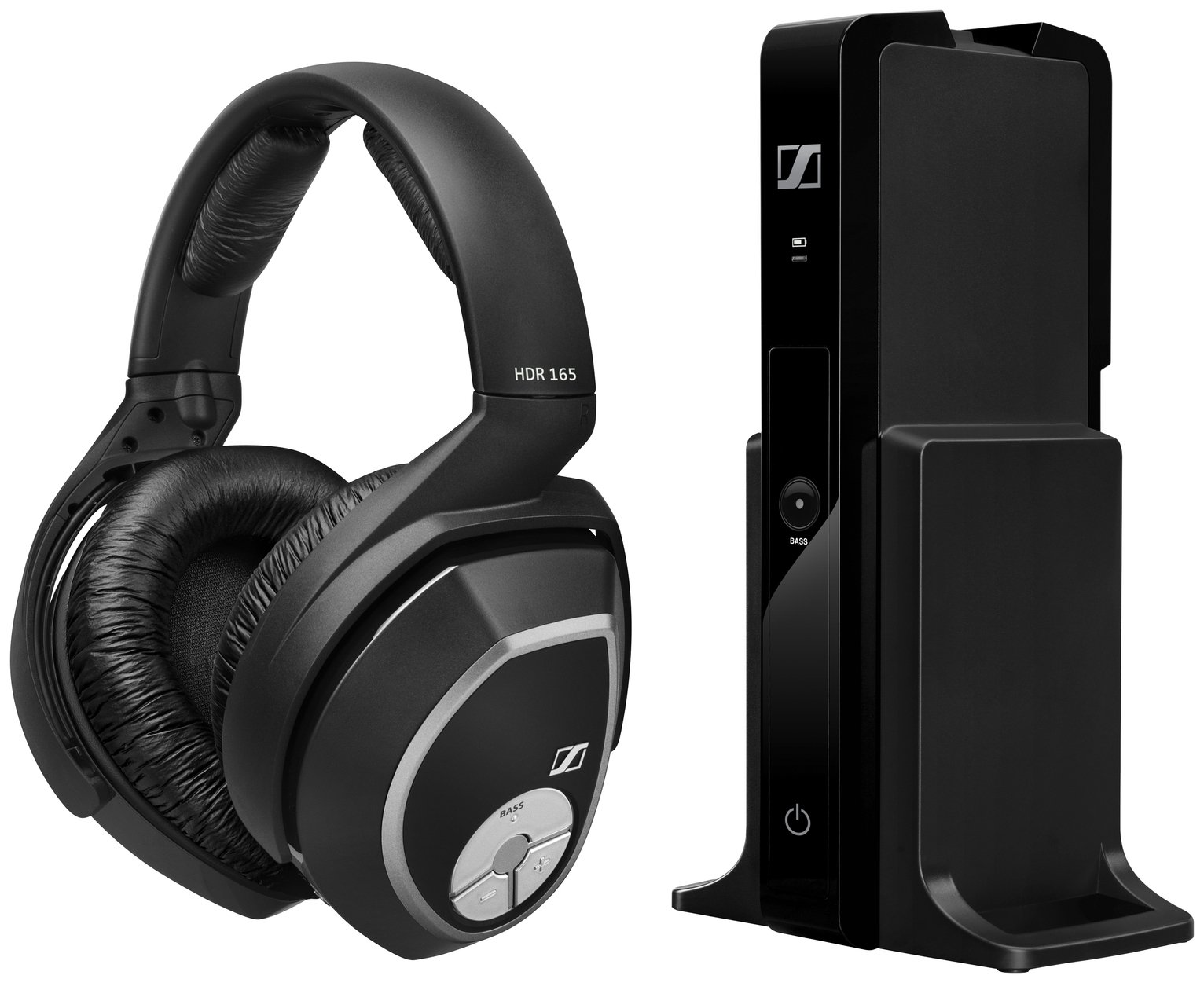 Sennheiser RS165 Wireless Headphones for TV / HiFi - Black