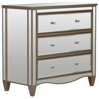 Schreiber Cranbourne 3 Drawer Bedside Chest (Mirrored)