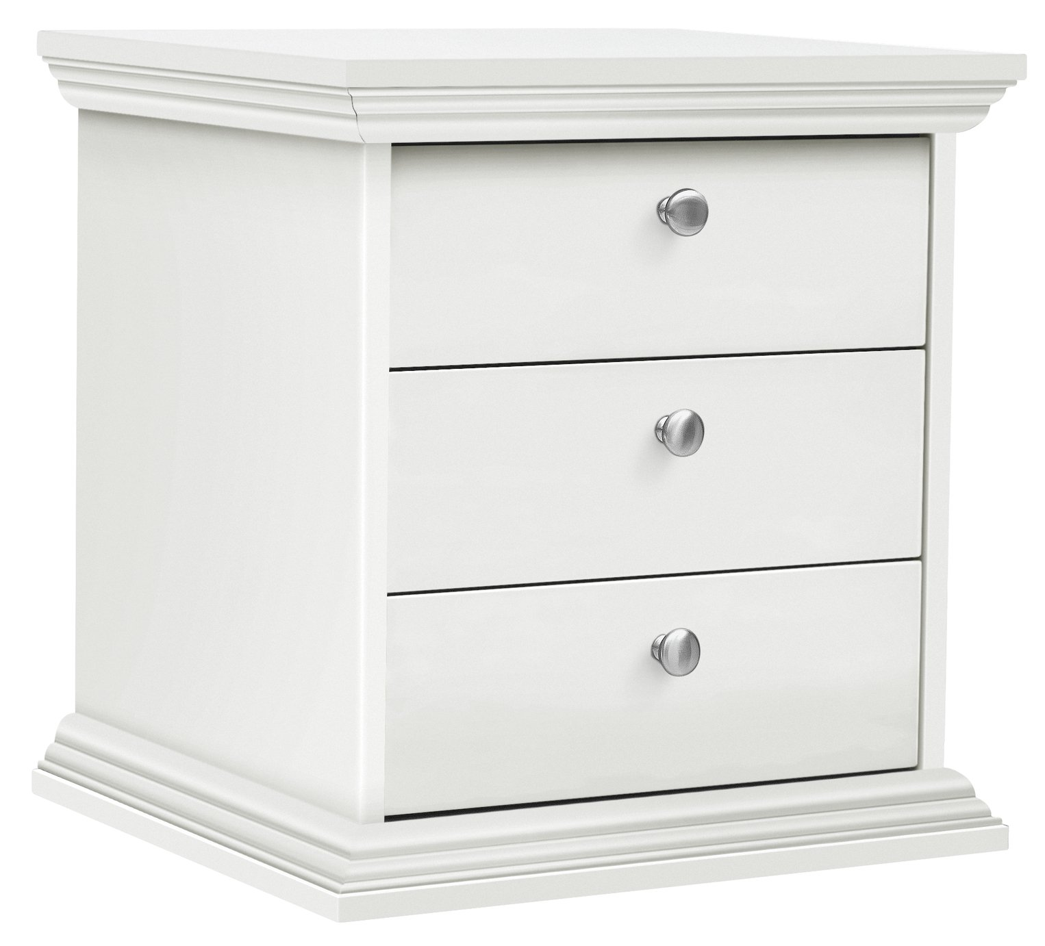 Home Canterbury  Drawer Bedside Chest White
