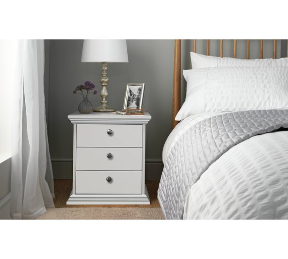 Buy Home Canterbury 3 Drawer Bedside Chest White At Your Online Shop For Bedside