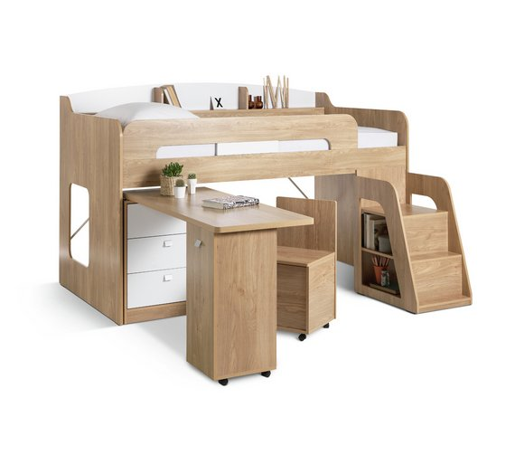 Childrens Kids 3 Tier Toy Bedroom Storage Shelf Unit 8: Buy Collection Ultimate Storage Midsleeper Bed