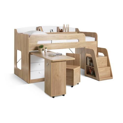 Buy Argos Home Ultimate Storage Beech Mid Sleeper Bed