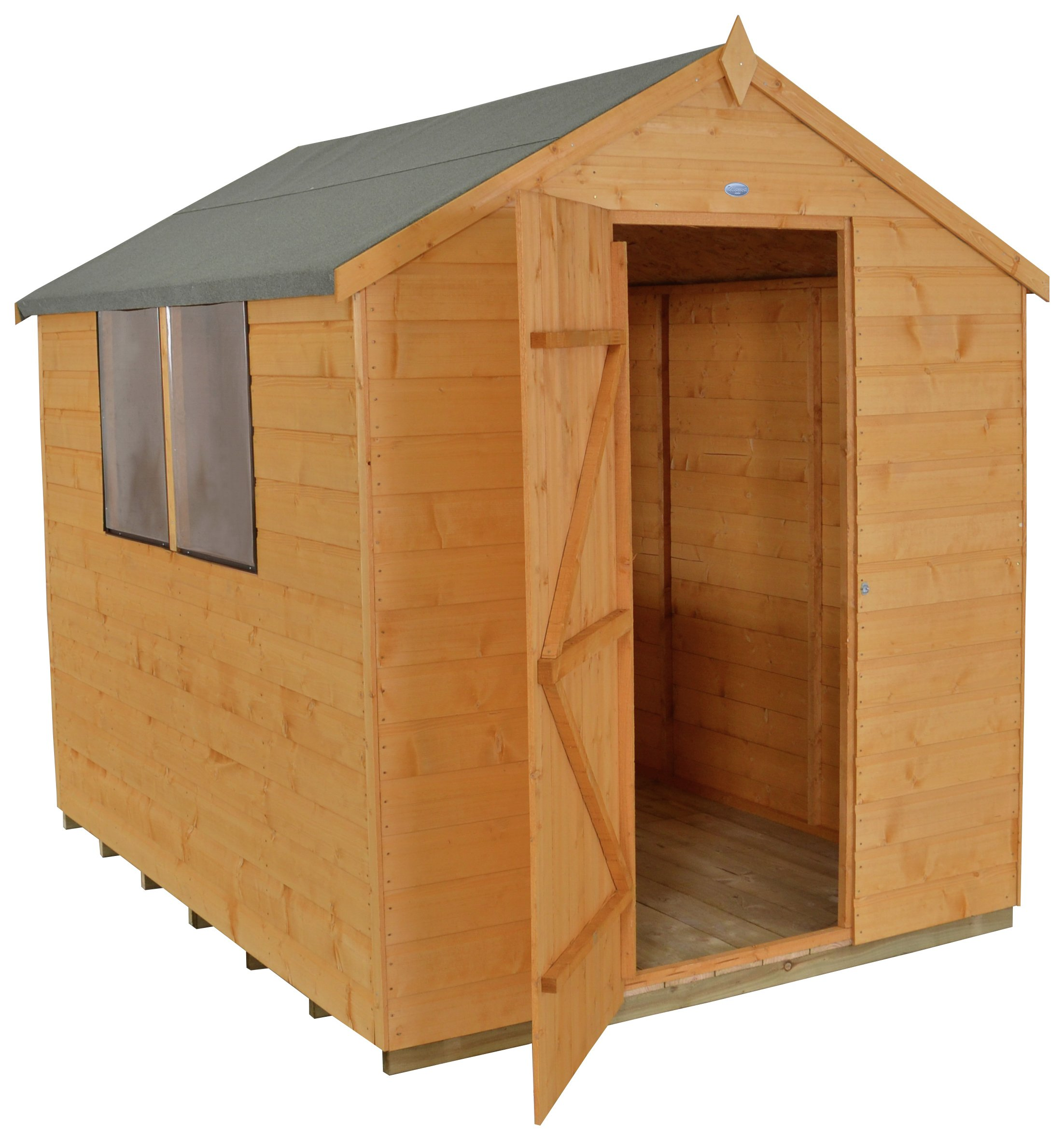 Forest Shiplap Wooden Shed - 6 x 8ft