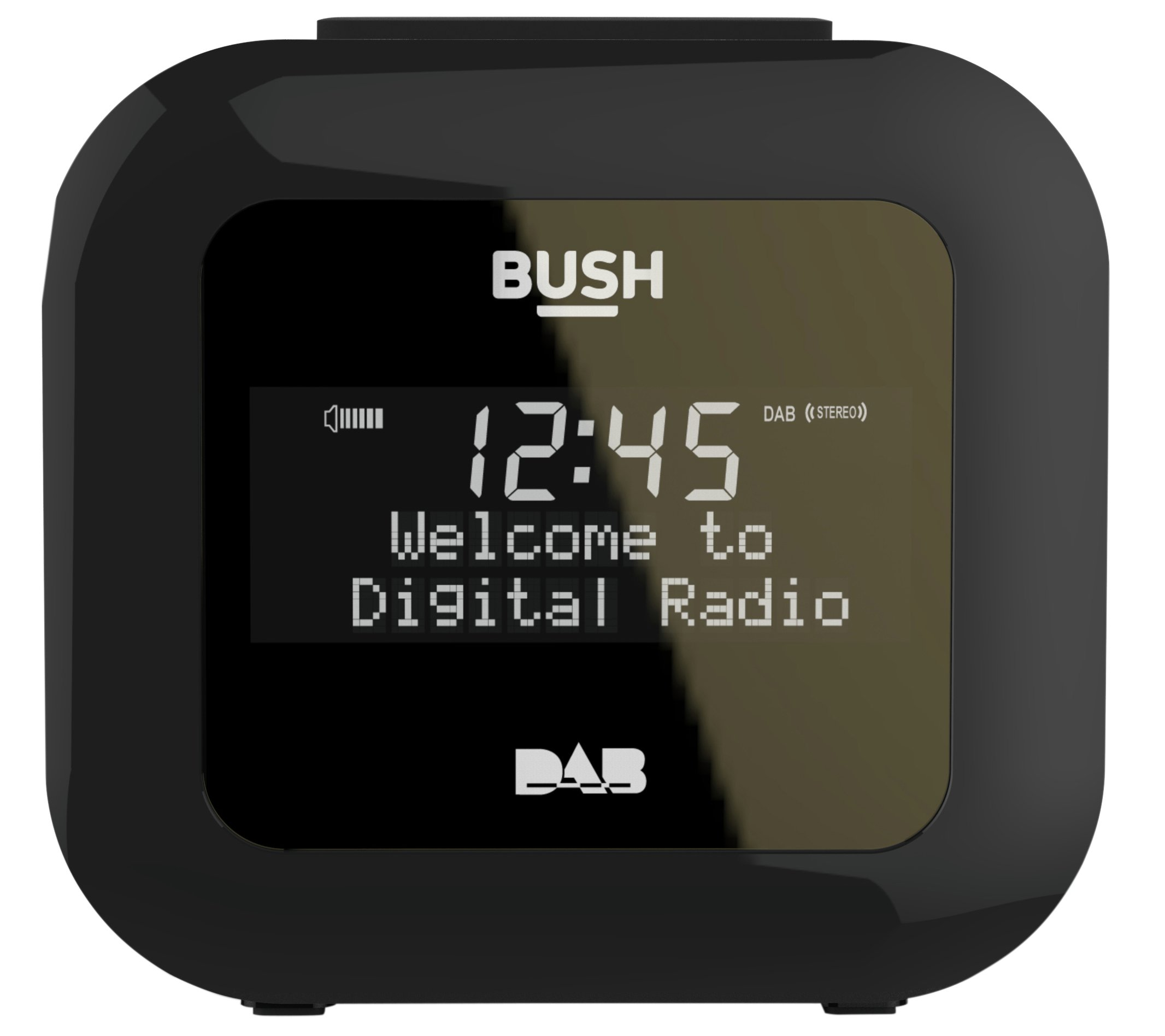 'Bush Dab Alarm Clock Radio - Black