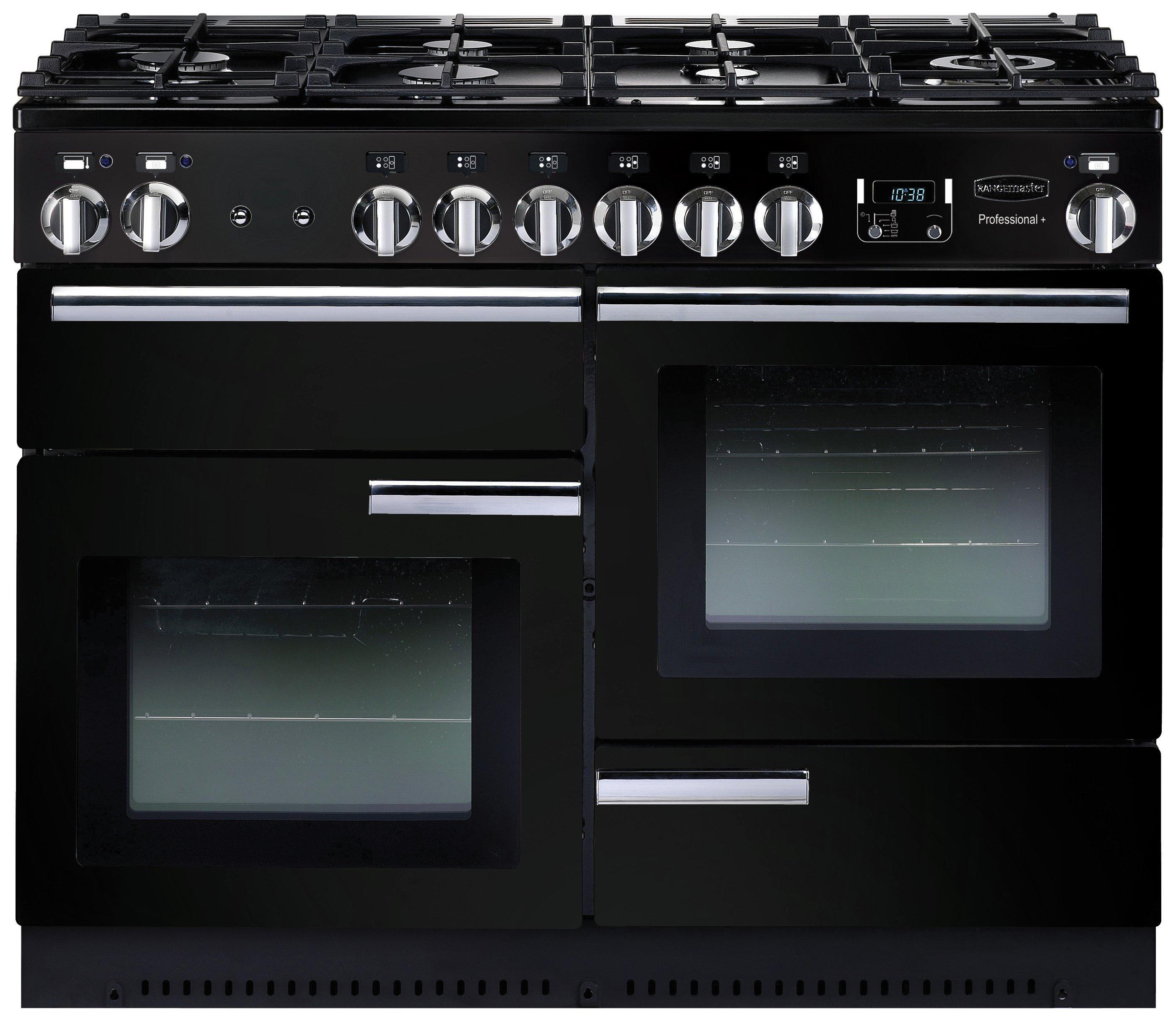 Rangemaster Professional 110cm Gas Range Cooker - Black