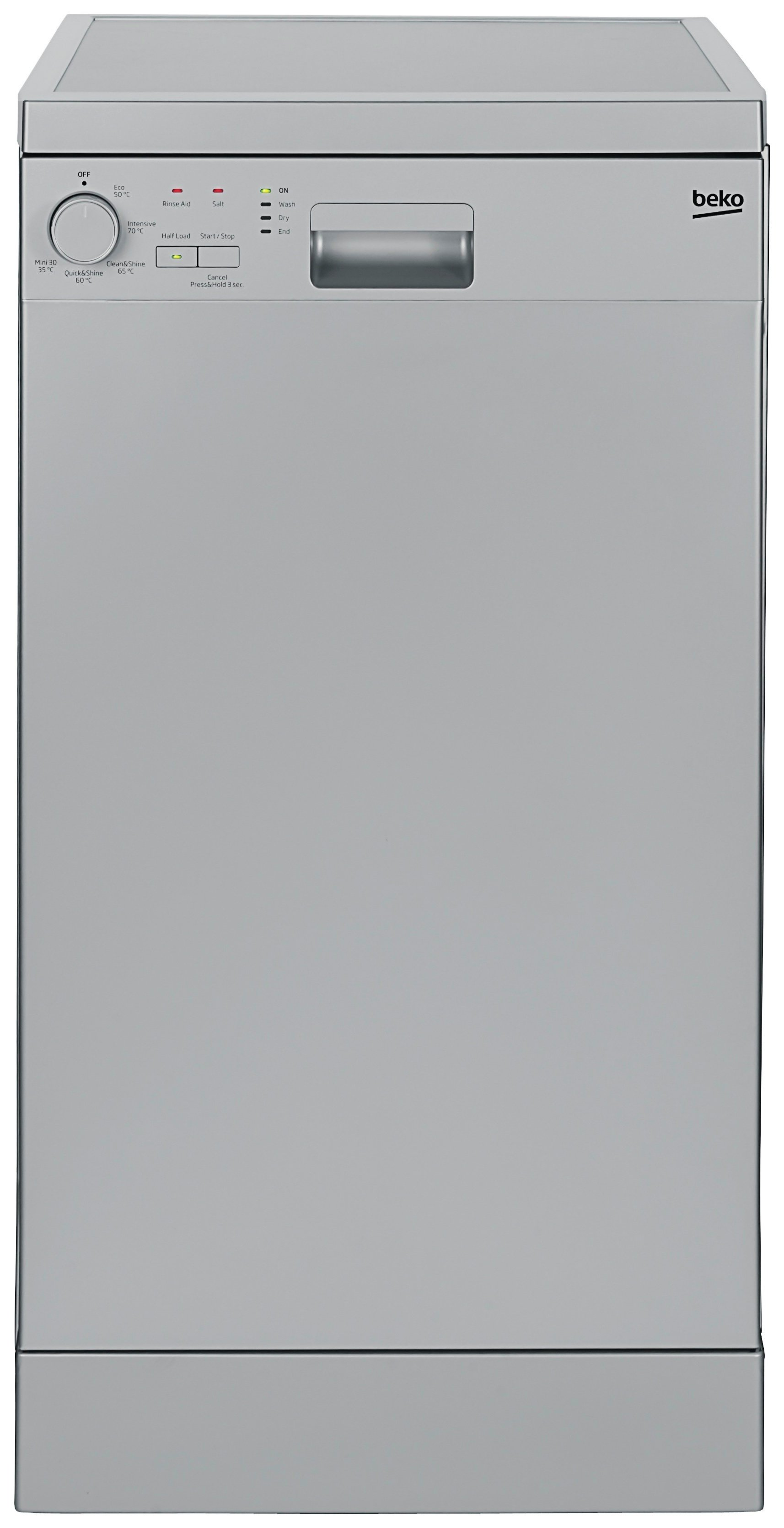 Beko - DFS05010S - Slimline Dishwasher - Silver