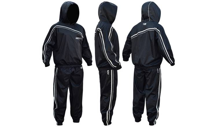 RDX Nylon Extra Large Sauna Sweat Suits - Black.