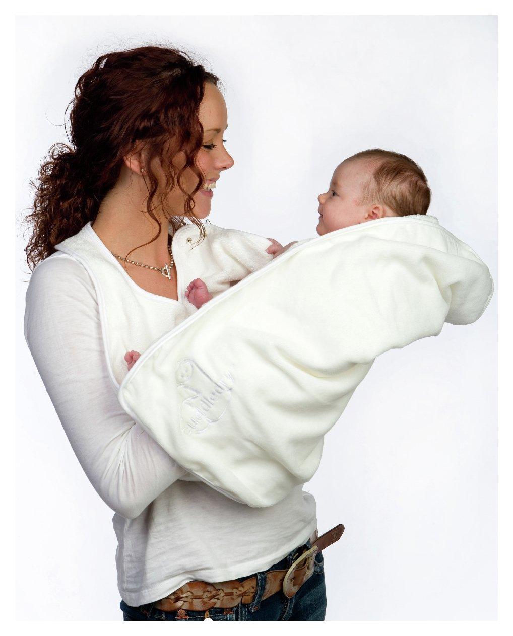Image of Cuddledry Baby Apron Bath Towel - White.