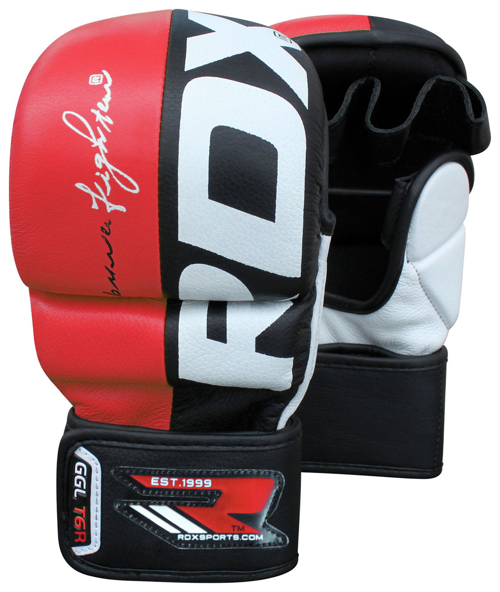 RDX Large to XLarge Mixed Martial Arts Training Gloves - Red