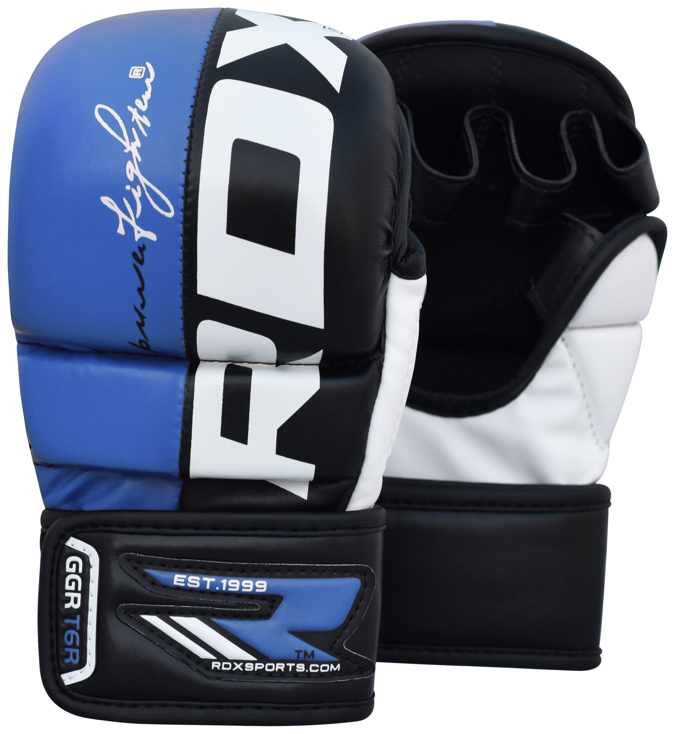 RDX Large to XLarge Mixed Martial Arts Training Gloves -Blue