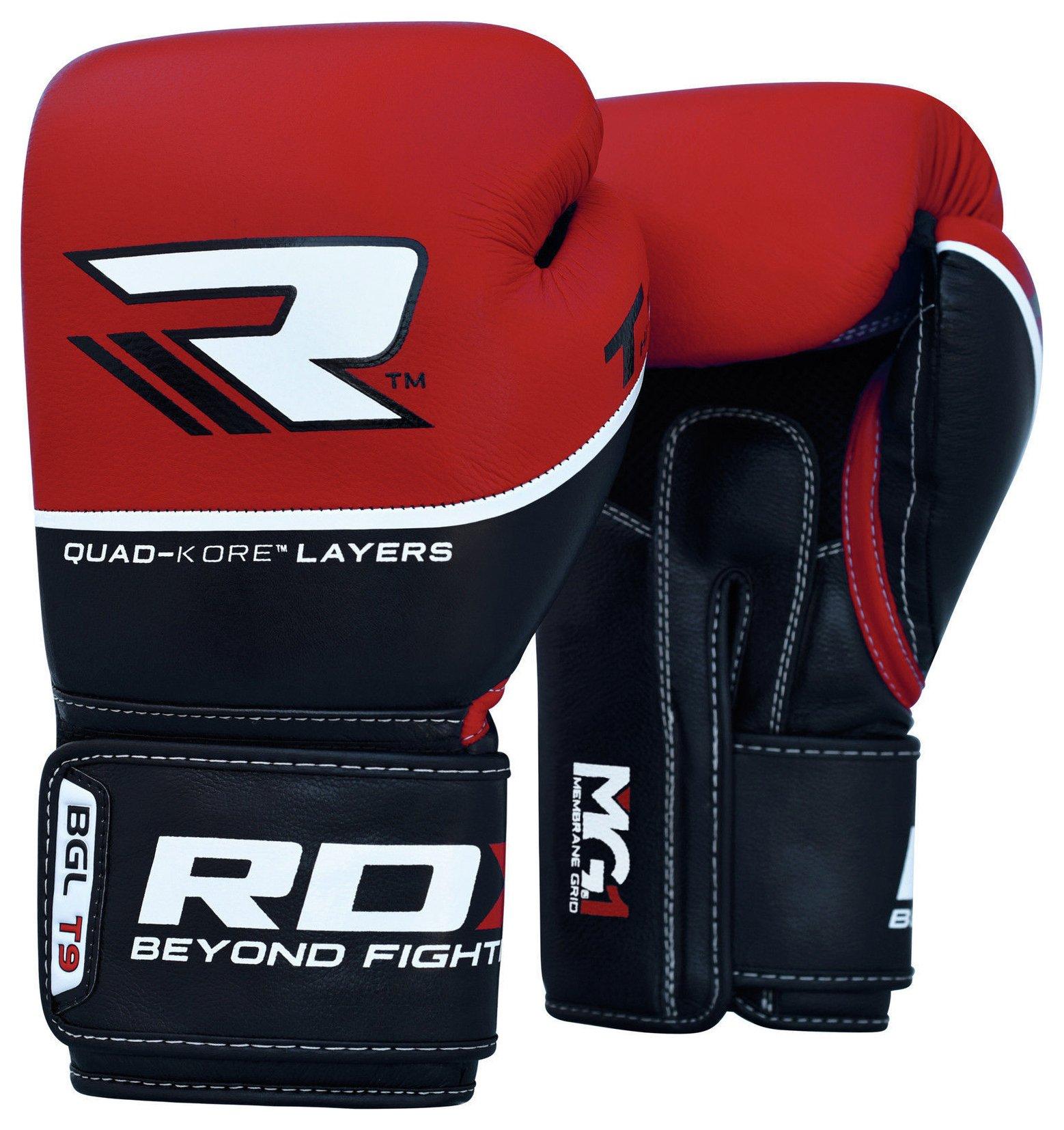 RDX Quad Kore 12oz Boxing Gloves - Red.