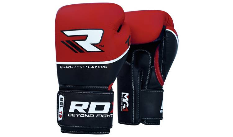 RDX Quad Kore 12oz Boxing Gloves - Red.