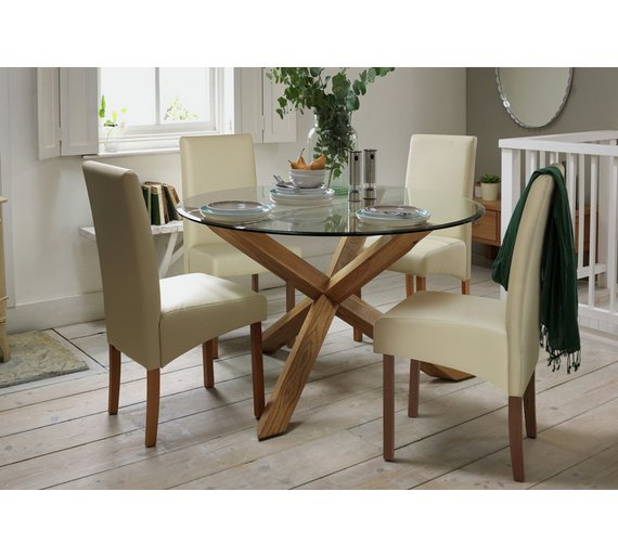 Buy Heart Of House Oakington Solid Oak And Glass Dining