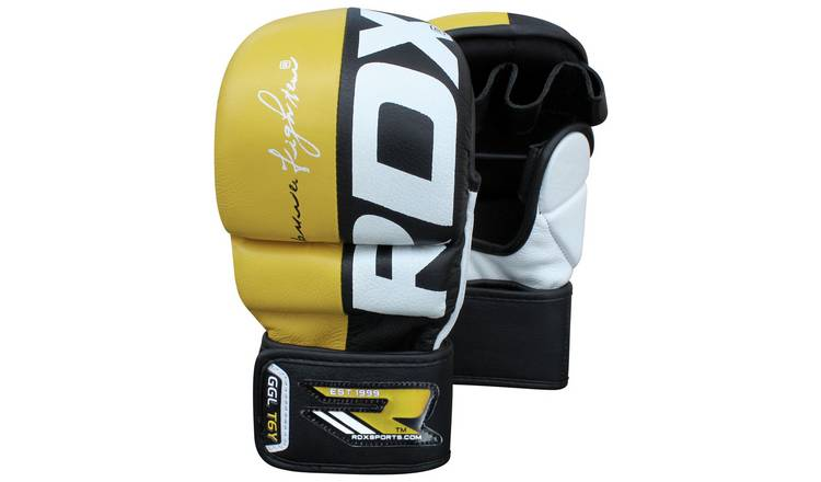 RDX Large to XLarge Mixed Martial Arts Gloves - Yellow.