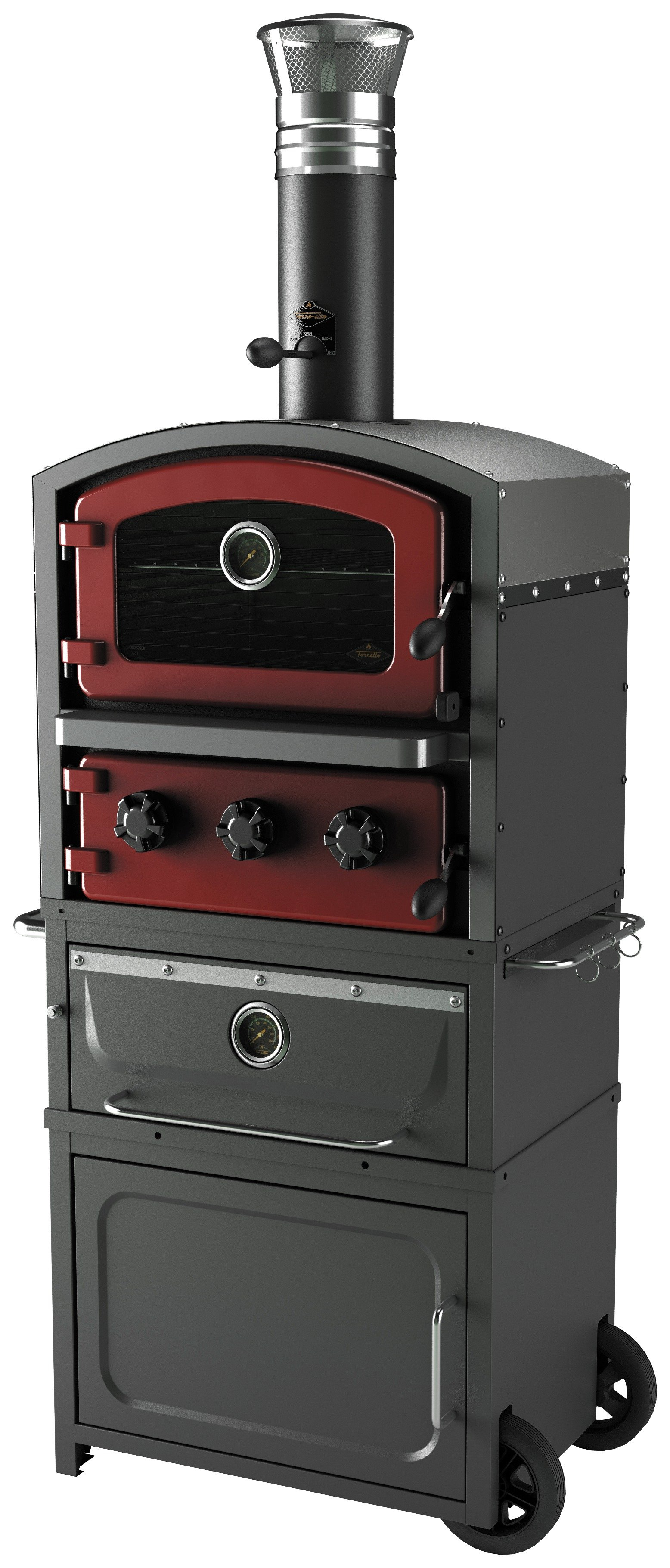 Fornetto GLPZ7EUR Alto Brick Wood Fired Oven