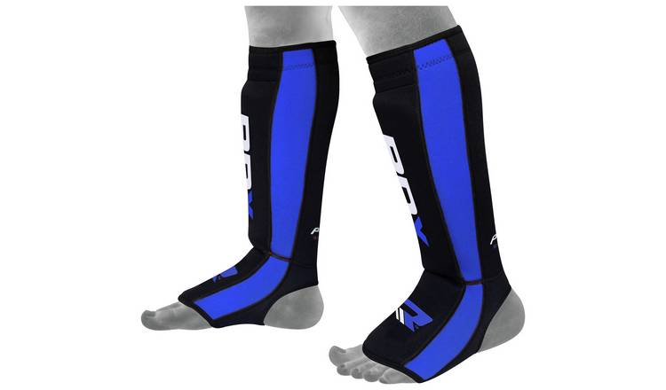 RDX Neoprene Large to Extra Large Shin Instep - Blue.