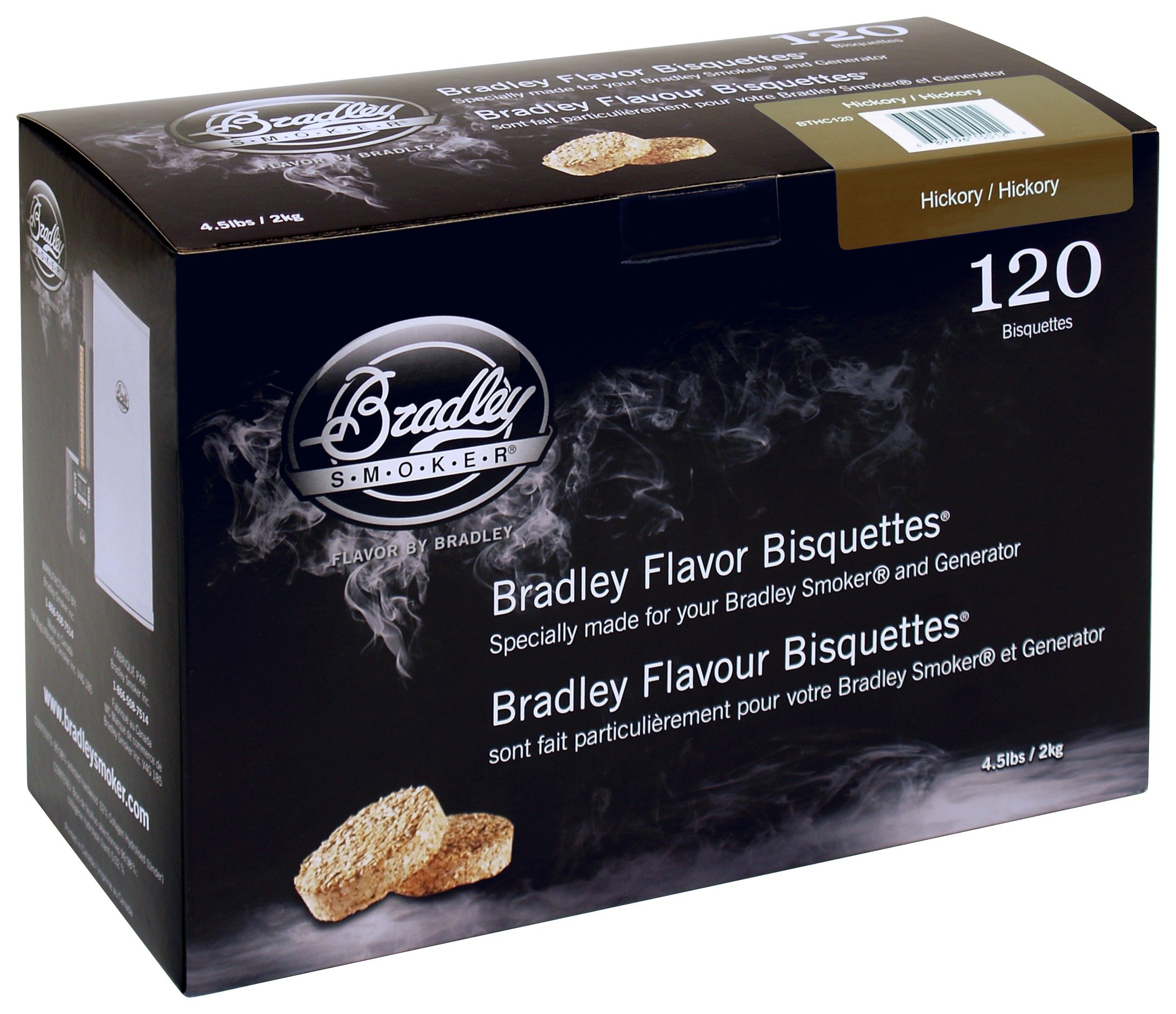 Bradley Smoker - Hickory Bisquettes - 120 Pack lowest price