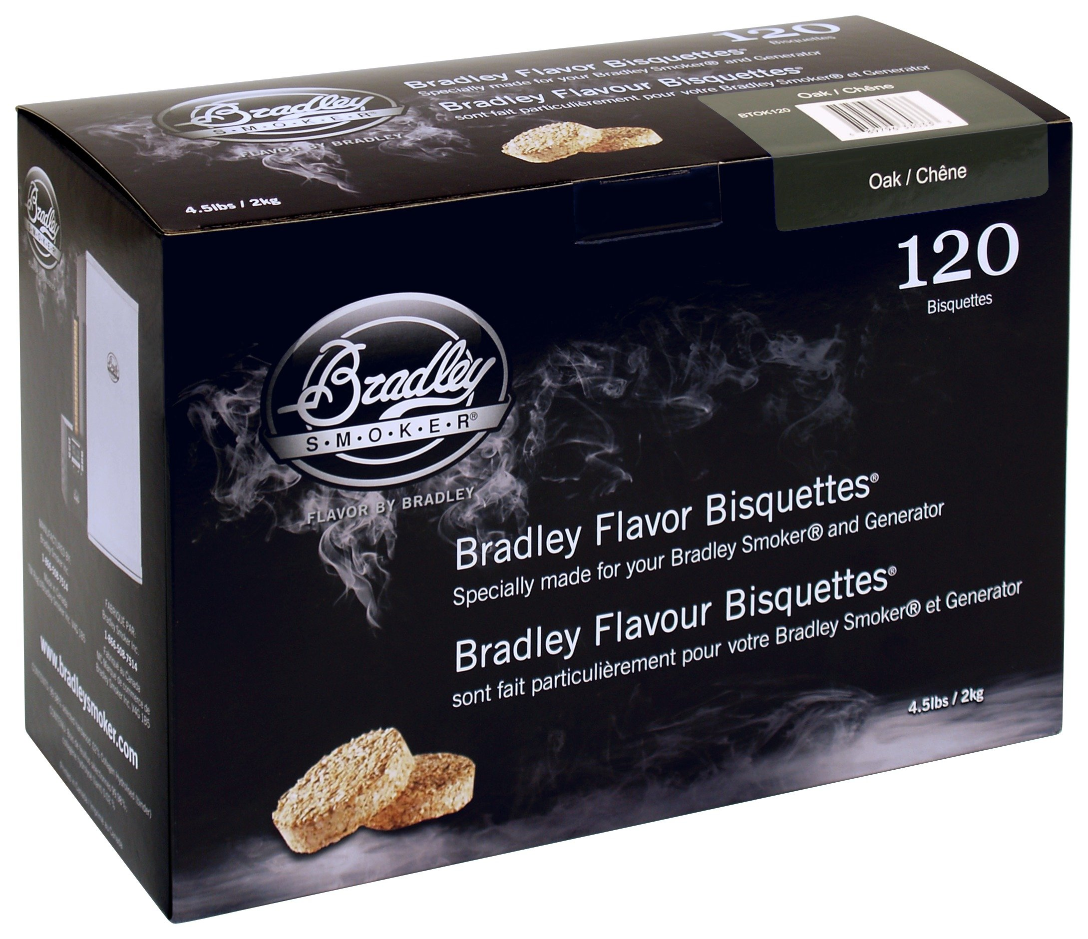 Image of Bradley Smoker - Oak - Bisquettes - 120 Pack