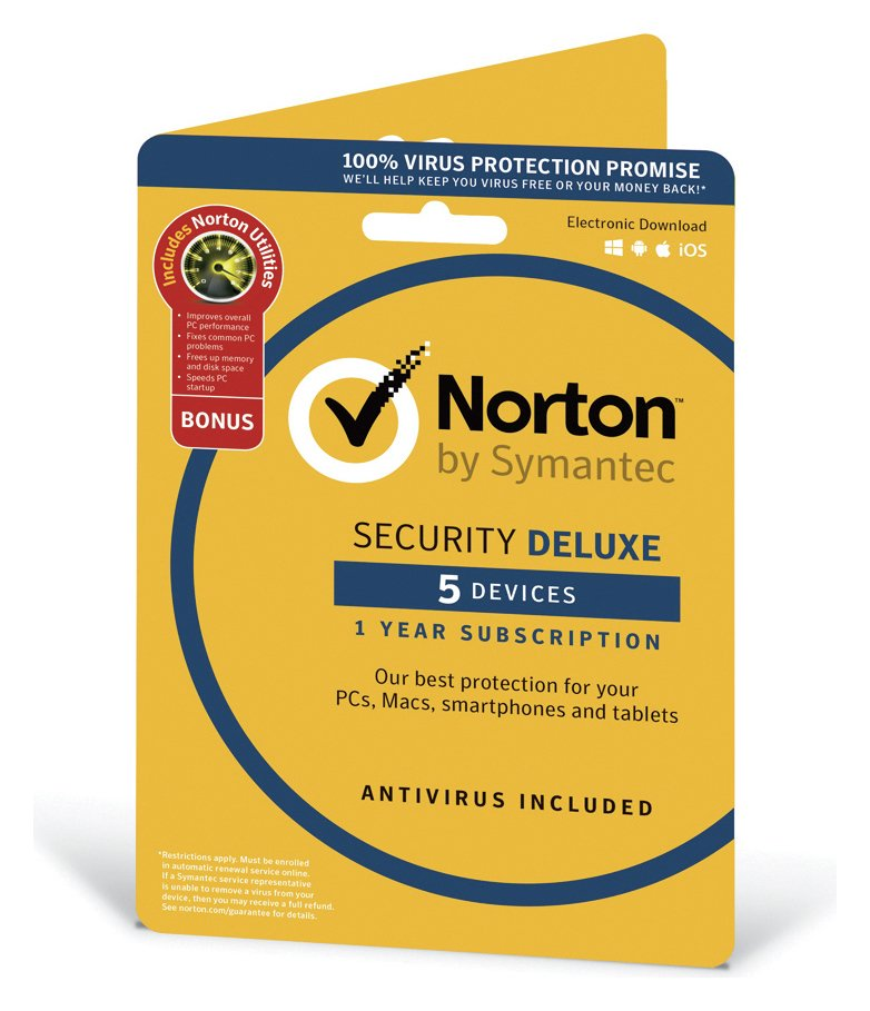Image of Norton - Security Deluxe and Utilities - 5 Devices