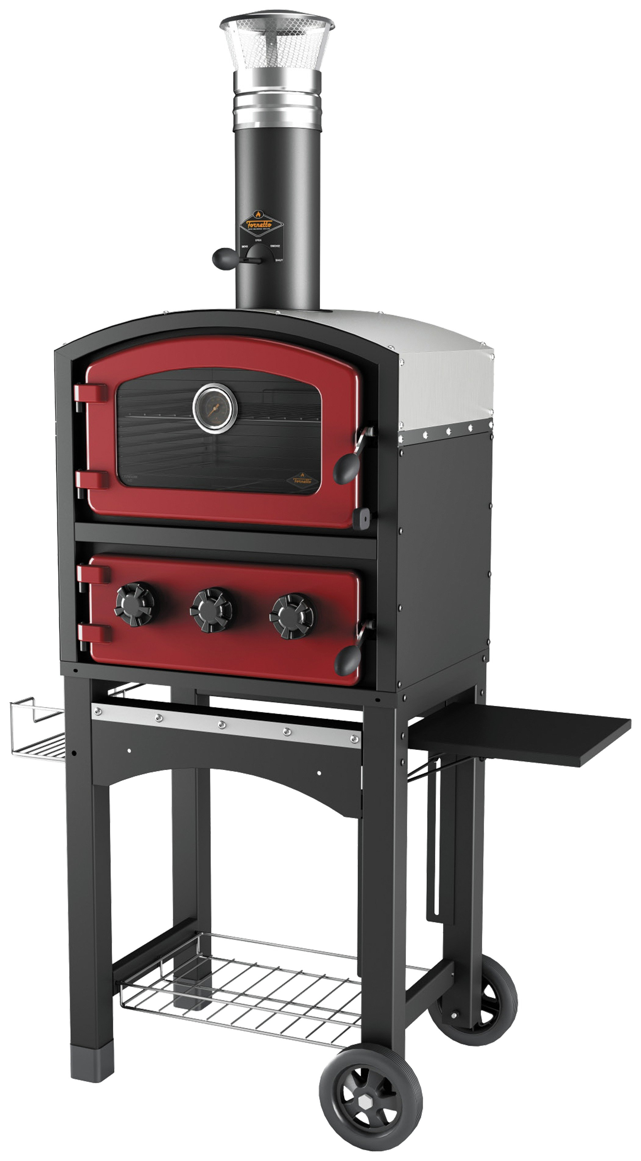 Fornetto GLPZ5EUR Red Wood Fired Oven